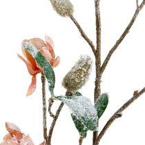 Ramo di magnolia rosa chiaro L 82 cm