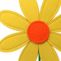 Feltro fiore giallo, arancio, verde Ø25,5 cm x H68 cm vetrinistica