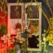 Lanterna LED, lampada decorativa, aspetto antico, Ø16cm H43cm