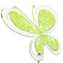 Spina di metallo verde farfalla, rosa 52cm 2 pezzi