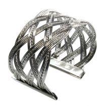 Bracciale in metallo argento 6 pezzi