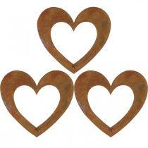 Cuore ruggine decorazione da giardino cuore in metallo 10 cm 12 pezzi