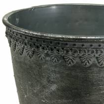 Coppa in metallo argento antico H26cm Ø17cm