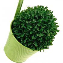 Portavaso da appendere, decorazione balcone, vaso di fiori verde Ø13,5cm