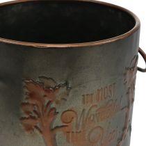 Pentola di metallo con coperchio Ø17,5 cm H20,5 cm