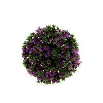 Mini-palla viola con fiori Ø12cm 1pz