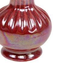 Mini Vaso Ø5cm H10cm Madreperla Rosso 6pz