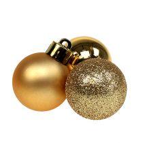 Mini palla di Natale oro Ø3cm 14 pezzi