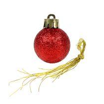Mini palla di Natale rossa Ø3cm 14 pezzi