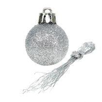 Mini palla di Natale argento Ø3cm 14 pezzi