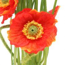 Rosso papavero nell'erba 23 cm