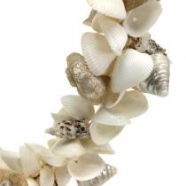 Corona di conchiglie bianco naturale Ø40cm