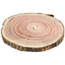 Fetta di albero campana blu albero naturale Ø25-30cm 1p