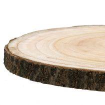 Fetta di albero campana blu naturale Ø30-35cm 1p