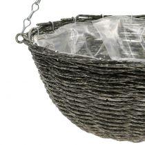 Lampada cestino grigio Ø30,5cm H15cm