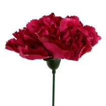 Garofano rosa Ø9cm L11cm 12 pezzi