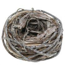 Cesto pasquale fatto di ramoscelli, naturale, bianco lavato Ø13cm 3 pezzi
