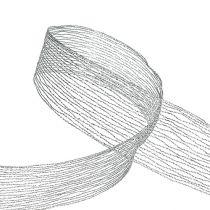 Nastro a rete argento rinforzato con filo 40mm 15m