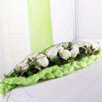 Decorazione da tavolo in mattoni di schiuma floreale verde 22 cm x 7 cm x 5 cm 10 pezzi