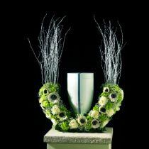 Mezzo anello urne di schiuma floreale H29cm Ø47cm 1pz gioielli da lutto