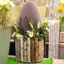 Uovo di Pasqua floccato H25cm Uova colorate Decorazione pasquale