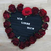 Cuore in schiuma floreale nero 38 cm 2 pezzi
