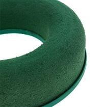 Anello floreale in schiuma corona verde H4,5cm Ø17cm 6 pezzi