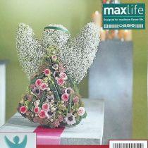 Angelo in schiuma floreale con dimensioni in piedi 45 cm x 34 cm