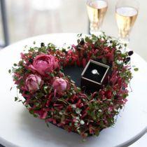 Schiuma floreale nero 17cm 2 pezzi decorazione di cerimonia nuziale