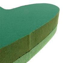 Plug size cuore floreale schiuma verde 24 cm x 25 cm 2 pezzi