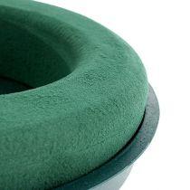 Tappo anello composto tampone schiuma con guscio verde Ø30cm H4,5cm 2 pezzi