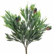 Ramo d'ulivo verde artificiale 27 cm 7 fili
