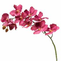 Ramo di orchidea artificiale rosa H83cm