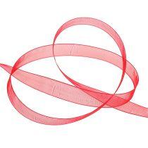 Nastro in organza con cimosa 1,5 cm 50 m rosso
