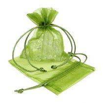 Sacchetto di organza verde 12 cm x 9 cm 10 pezzi