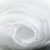 Tessuto decorativo in organza bianco 150 cm x 300 cm