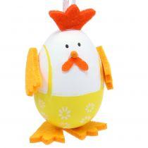 Uovo dipinto come un gallo da appendere nel mix 7,5 cm 12 pezzi