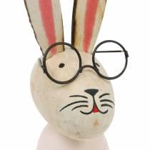 Decorazione pasquale, coniglietto con gli occhiali, decorazione primaverile, coniglietto in metallo, decorazione per la tavola