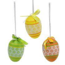 Uova di Pasqua da appendere mix colori assortiti 6cm 18 pezzi