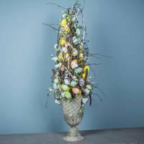 Uova di Pasqua da appendere verdi, bianche, gialle 6cm 12 pezzi