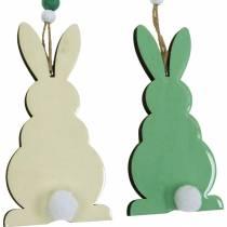 Coniglietti pasquali da appendere, decorazioni primaverili, ciondoli, coniglietti decorativi verdi, bianchi 3pz