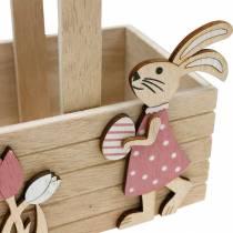 Cesto pasquale con coniglietti decorazione pasquale da appendere cesto pasquale decorazione primaverile 2pz