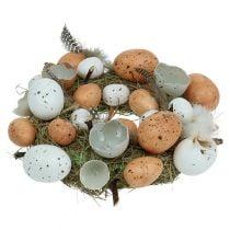 Ghirlanda pasquale con uova Ø24cm naturale, bianca