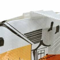 Borsa shopping con manici Bella Vita plastica 32 × 21 × 26cm