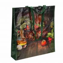 Borsa shopping con manici Verdure plastica 38 × 10 × 39 cm