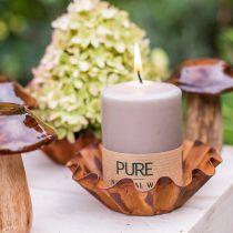 Candela pilastro pura marrone 90/70 candela sostenibile stearina e cera naturale di colza