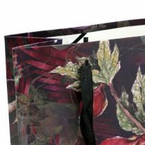 Sacchetto regalo fiori oro 18 cm x 8 cm H24 cm