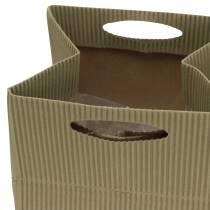 Fioriera con sacchetto di carta naturale, grigio 10,5 cm 12p