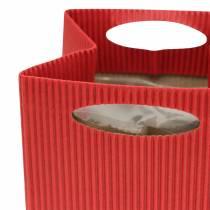 Fioriera vaso di carta rosso 8,5 cm 12 pezzi