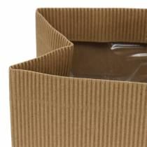 Fioriera con sacchetto di carta naturale 10,5 cm 6 pezzi